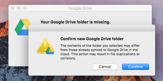 Locate the Google Drive folder on the Mac disk drive
