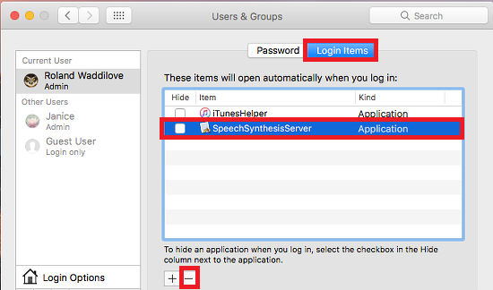 how to change mac startup apps
