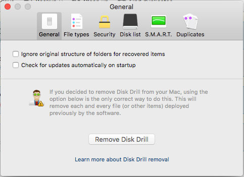 How to uninstall Disk Drill app on the Apple Mac