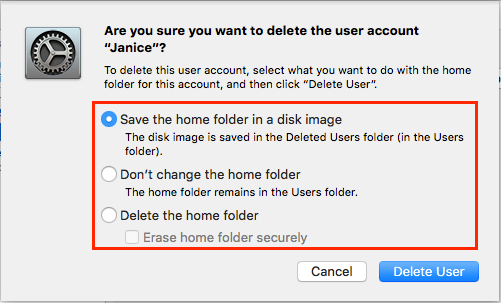 how to delete user account on mac