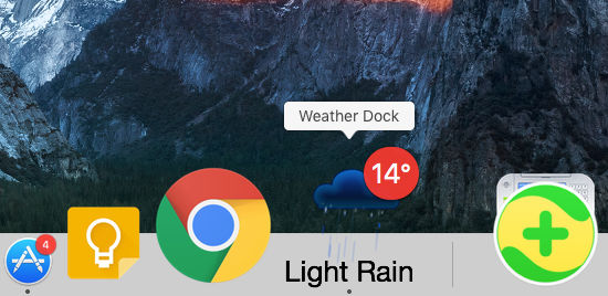 Weather Dock puts an animated weather forecast in the Dock on the Apple Mac