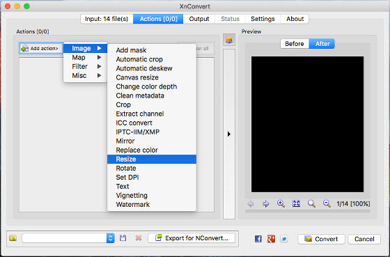 XnConvert is the best image converter for the Mac by far