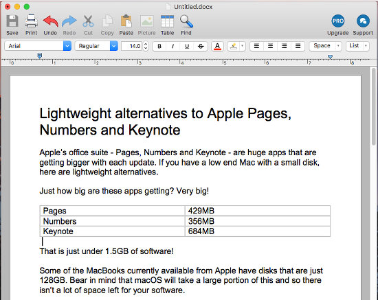 Lightweight alternatives to Apple Pages, Numbers and Keynote | RAW Mac