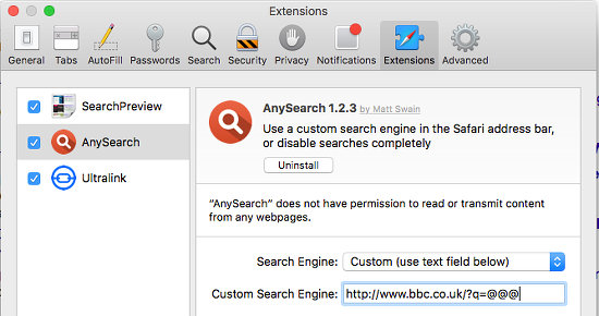 Disable or uninstall extensions in Safari on the Apple Mac
