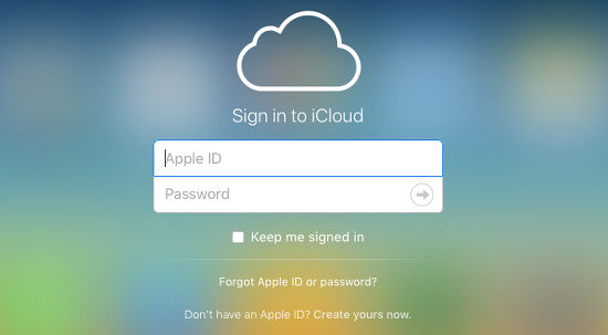 Sign in to iCloud at the website