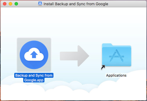 Upgrade Google Drive to Google Backup and Sync on Apple Mac