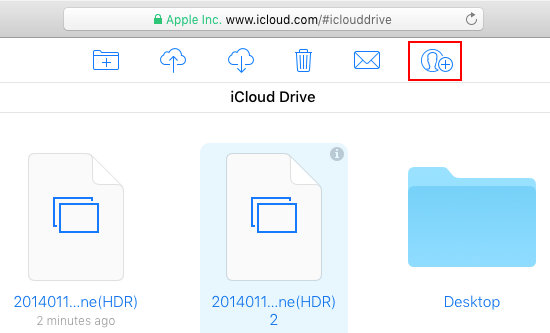 Add people to share files using the iCloud website