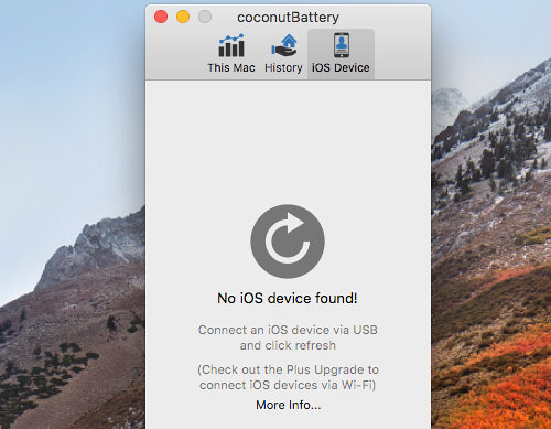 coconutBattery for the Apple Mac