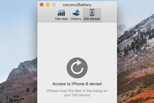 Authorise the Mac to access an iPhone