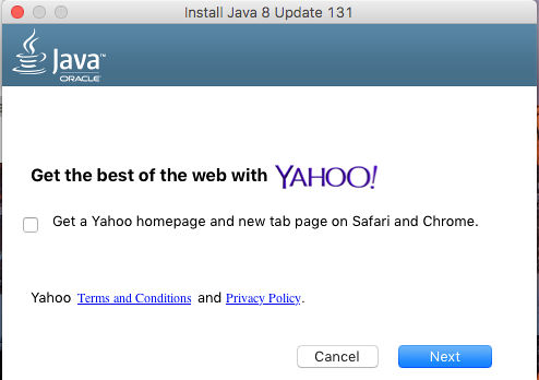 Opt out of extras bundled with the Java installer