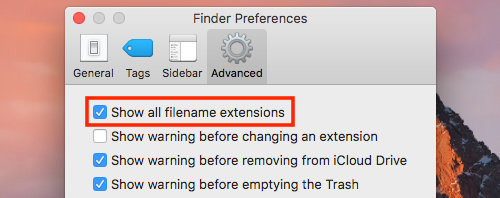 Finder Preferences in macOS on the Apple Mac
