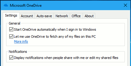 Set OneDrive on the PC to allow access to all files on the disk