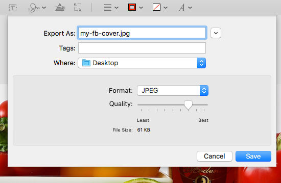Export images from the Preview app on the Apple Mac