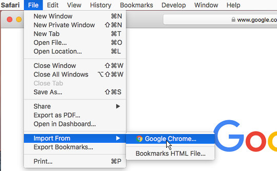 import safari bookmarks to chrome iphone