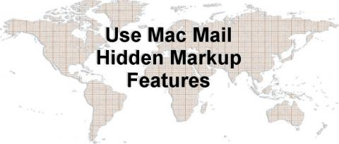 How to annotate maps and share them by email using Mac Mail