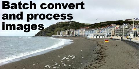 Batch convert and process images on the Apple Mac