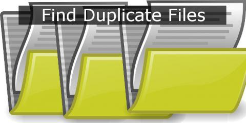 Find duplicate files on the disk and then erase them to reclaim the space