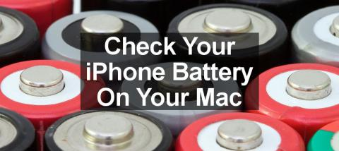 Use coconutBattery on the Apple Mac to see the health of the iPhone and iPad battery.