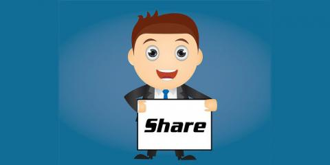Share photos, website URLs, text and other items on social networking websites