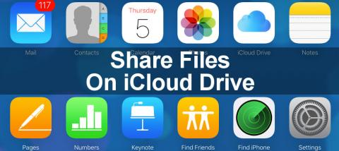 Files on the Apple iCloud website can be shared by visiting the site in a browser. Share files with friends.