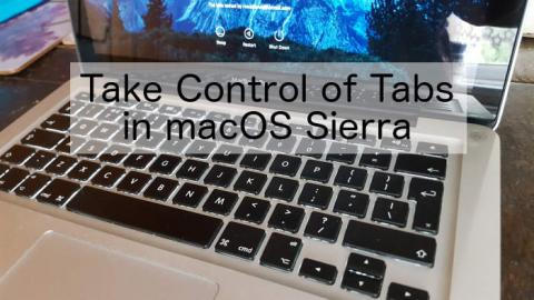 Master tabs in apps when using macOS Sierra on the Apple Mac