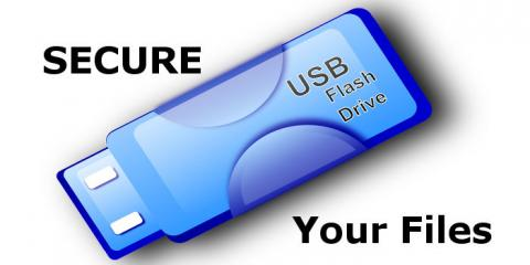 Secure the files on a USB flash drive by encrypting them using an Apple Mac
