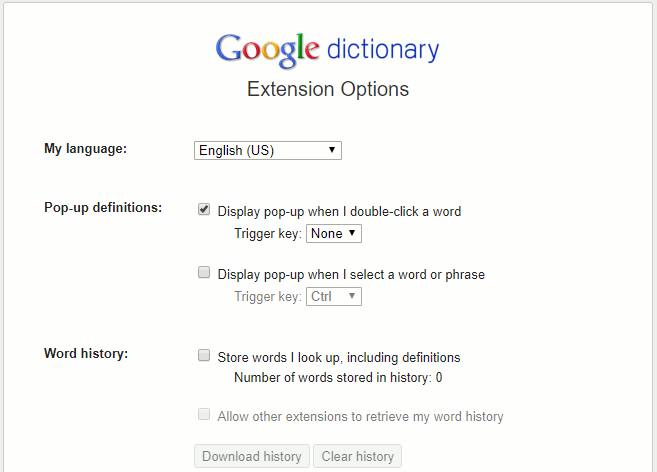 Get word definitions with a web browser dictionary add-on
