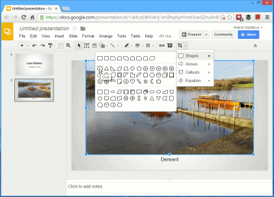 Editing images on Google Drive