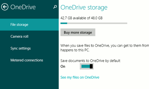 OneDrive is the default save location