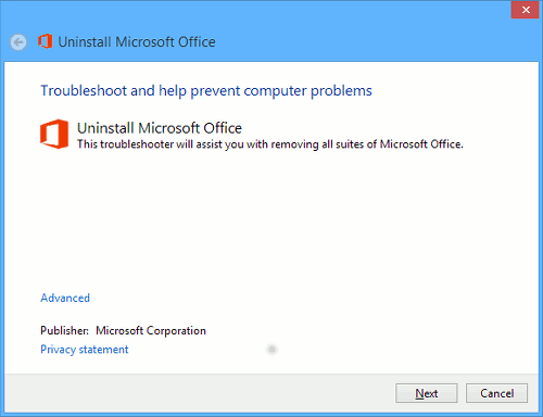 Uninstall Office