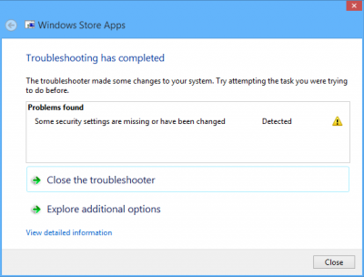 Troubleshoot apps from the Windows Store