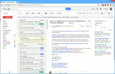 Add a preview pane to Gmail