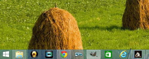 The Windows 8 taskbar