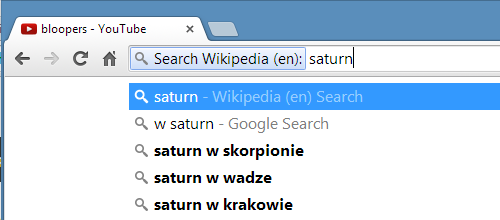 Search from the address box in Chrome