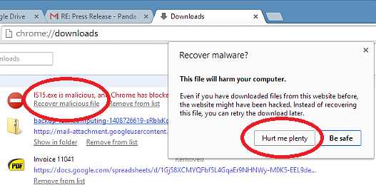 Beware of Chrome's malware download checker