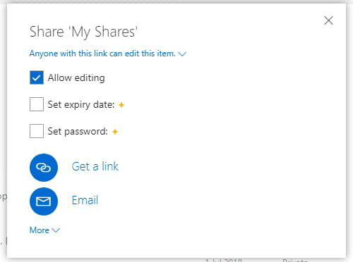 How to share, unshare, limit shared files on Microsoft OneDrive