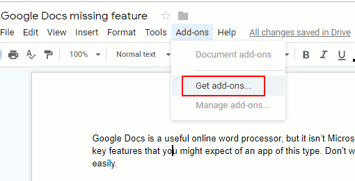 Add the one essential feature missing from Google Docs