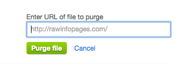 Purge CloudFlare's cache