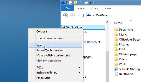 OneDrive sync problems