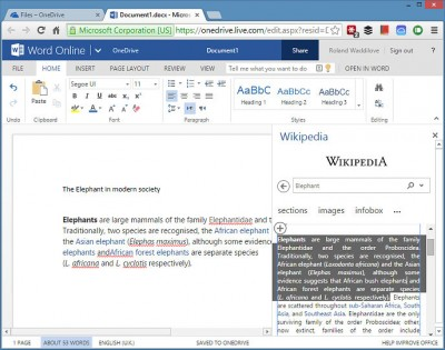 Copy text into Word from Wikipedia