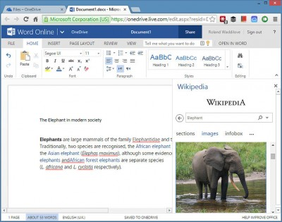 View images in Wikipedia in Word