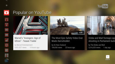 YouTube TV interface