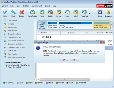 Disk partitioning