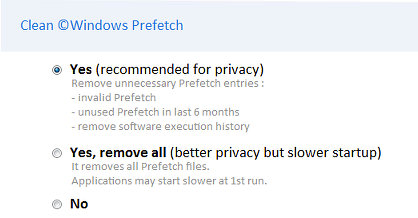 Clean the Windows Prefetch folder