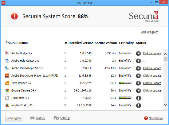 Secunia finds security updates