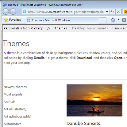 Download Windows themes
