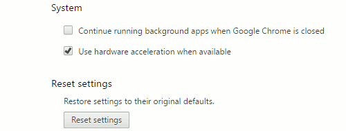 Enable the option to use hardware acceleration in Chrome browser settings