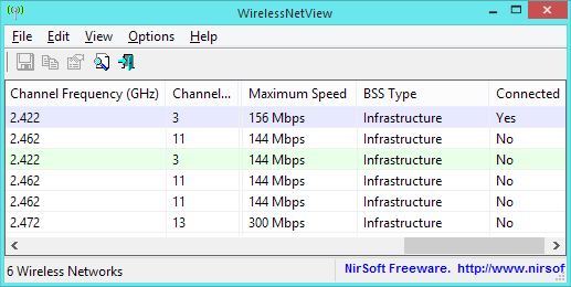 View Wi-Fi networks in range