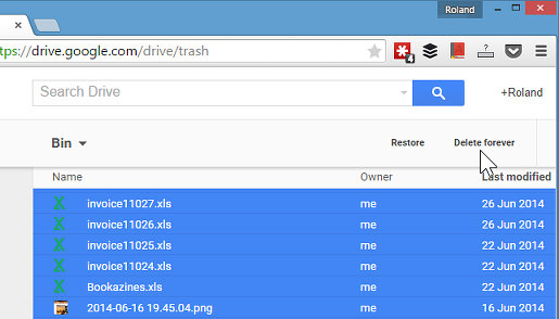 Empty the Google Drive Bin