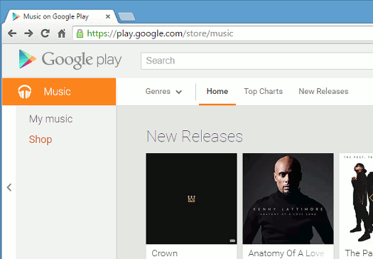 Google Music in Chrome